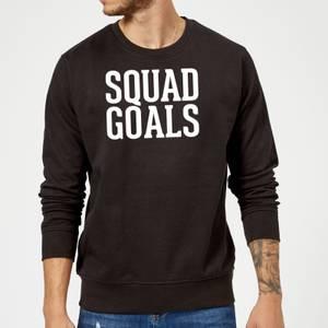 Squad Goals Slogan Sweatshirt - Black