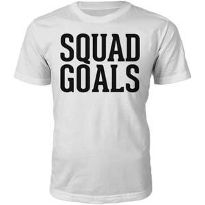 T-Shirt Unisexe Squad Goals -Blanc