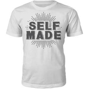 Self Made Slogan T-Shirt - White