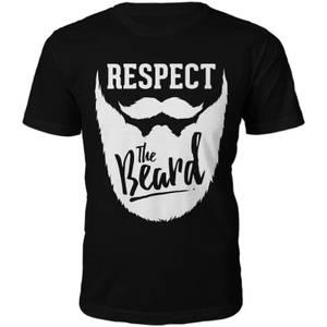 Männer Respect The Beard T-Shirt - Schwarz