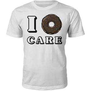 I Donut Care Slogan T-Shirt - White