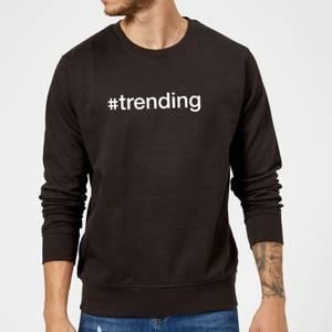 #Trending Slogan Sweatshirt - Schwarz