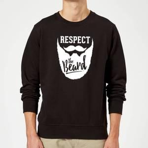 Respect The Beard Slogan Sweatshirt - Schwarz