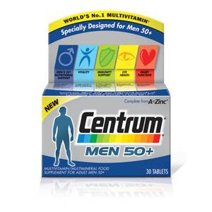 Centrum Men 50 Plus Multivitamin suplement multiwitaminowy dla mężczyzn powyżej 50. roku życia (30 tabletek)