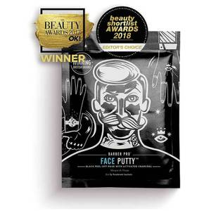 BARBER PRO Face Putty Black Peel-Off Mask with Activated Charcoal (tre påføringer)
