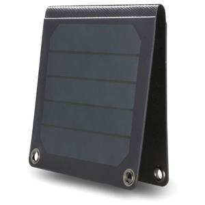 Zusammenklappbares Solarpanel-Ladegerät - Schwarz