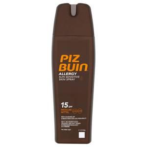 Piz Buin Allergy Sun Sensitive Skin Spray - Medium SPF15(피즈 뷰 알러지 선 센서티브 스킨 스프레이 - 미디엄 SPF15 200ml)