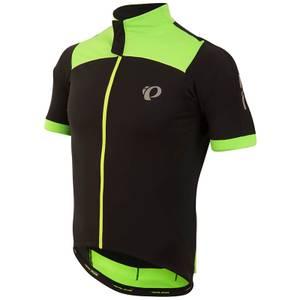 Pearl Izumi Pro Pursuit Wind Short Sleeve Jersey - Black/Screaming Green