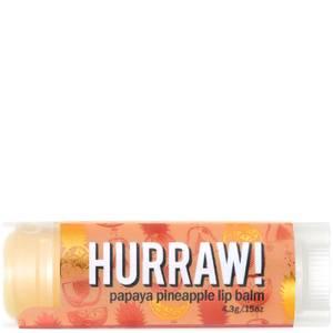 Бальзам для губ с ароматом папайи и ананаса Hurraw! Papaya Pineapple Lip Balm