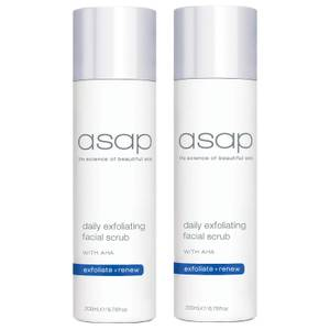 2 x asap Daily Exfoliating Facial Scrub 200ml