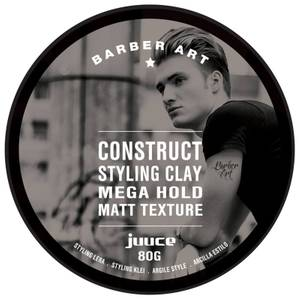 Juuce Barber Art Construct Styling Clay Mega Hold Matt Texture 80g