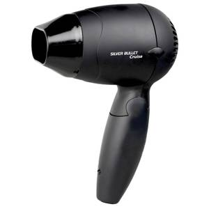 Silver Bullet Cruise Worldwide Use Black Hair Dryer With Included Diffuser