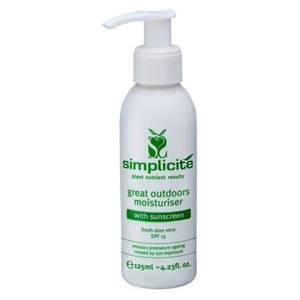Simplicite Great Outdoors Moisturiser With Sunscreen SPF15 125ml