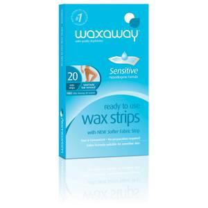 Waxaway By Caron Ready To Use Sensitive Wax Strips Body 20Pk