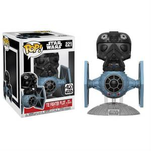 Star Wars Tie Fighter con Tie Pilot Figura Pop! Vinyl