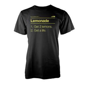 Vo Maria Lemonade Men's Black T-Shirt