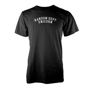 Vo Maria Random Unicorn Men's Black T-Shirt