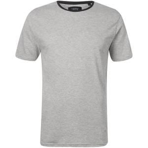 Troy Men's Elias Ringer T-Shirt - Light Grey Marl
