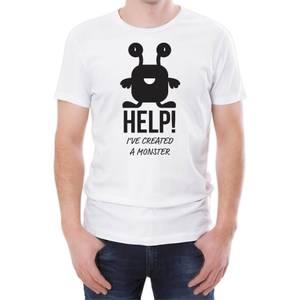 Help I've Created A Monster Men's White T-Shirt