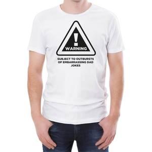 Warning Dad Jokes Men's White T-Shirt