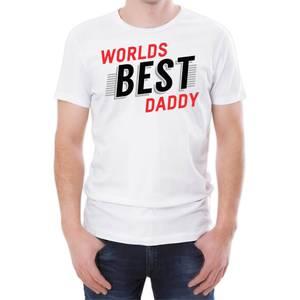 World's Best Daddy Men's White T-Shirt