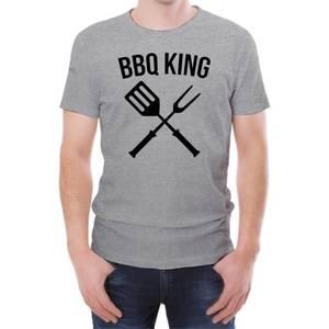 BBQ King Men's Grey T-Shirt