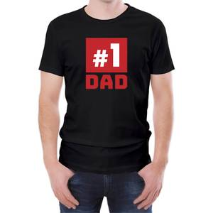 Number One Dad Men's Black T-Shirt