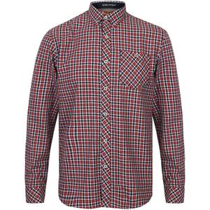 Tokyo Laundry Men's Sicily Checked Long Sleeve Shirt - Tango Red