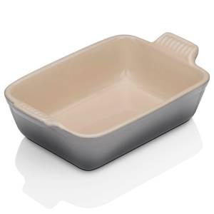 Le Creuset Stoneware Small Heritage Rectangular Roasting Dish - 19cm - Flint