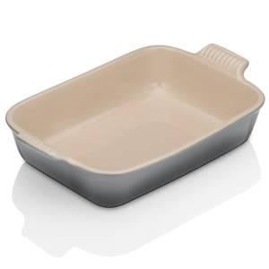 Le Creuset Stoneware Medium Heritage Rectangular Roasting Dish - 26cm - Flint