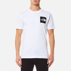 The North Face Men's Short Sleeve Fine T-Shirt - TNF White/TNF Black
