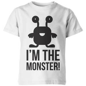 My Little Rascal Kids Im the Monster! White T-Shirt