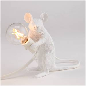 Seletti Sitting Mouse Lamp - White