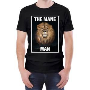 The Mane Man Men's Black T-Shirt