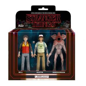 Lot de 3 Figurines Stranger Things Will, Dustin et Demogorgon -Funko