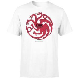 Game of Thrones Targaryen Fire and Blood Men's White T-Shirt