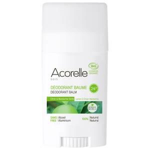 Acorelle Organic Lemon and Green Mandarine Deodorant Balm 40g