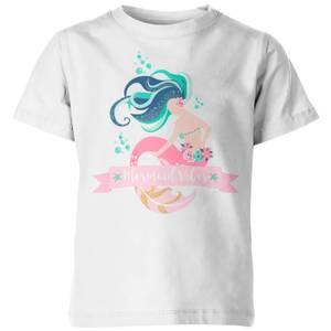 My Little Rascal Mermaid Vibes Kids' White T-Shirt