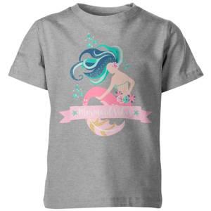 My Little Rascal Mermaid Vibes Kids' Grey T-Shirt