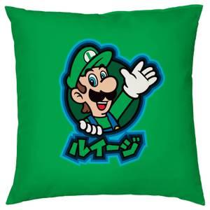 Housse de coussin Kanji Luigi Nintendo