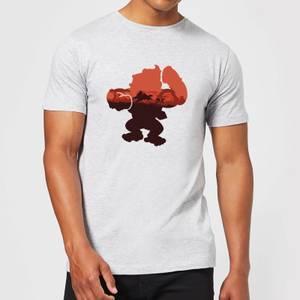 Camiseta Nintendo Donkey Kong Silueta Serengueti - Hombre - Gris claro