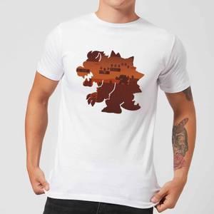 Nintendo Super Mario Bowser Silhouette Men's White T-Shirt