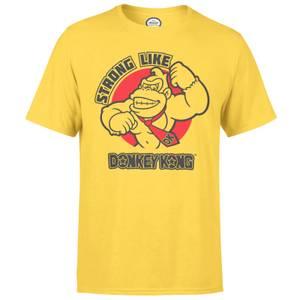任天堂强如金刚男士黄色T恤