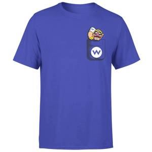 T-Shirt Nintendo Super Mario Wario Pocket Purple - Uomo