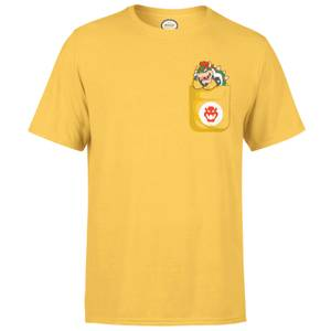 Nintendo Super Mario Bowser Pocket Men's Yellow T-Shirt