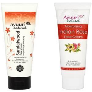 Ayuuri Sandalwood and Rose Face Creams