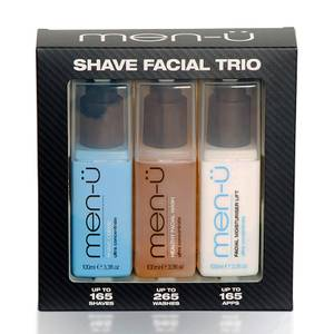 men-ü Shave Facial Trio (Worth £38.85)
