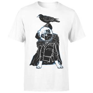 Pug In The Snow Men's White T-Shirt