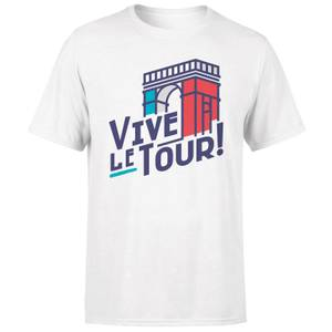 Vive Le Tour Men's White T-Shirt