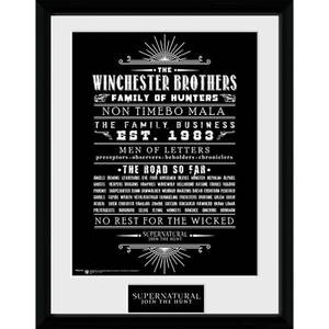 Supernatural Family Business - 16 x 12 Inches Framed Photograph
